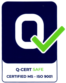 QCert Safe Certified MS-ISO 9001 smaller